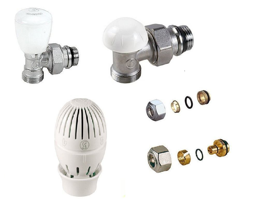 testa termostatica SQ 3//8 con adattatori Kit valvola detentore